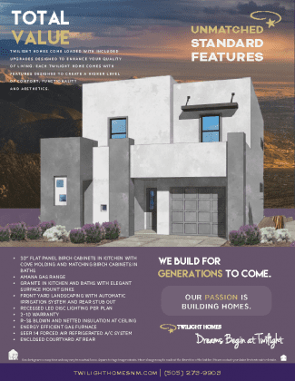 The Hudson | Estrella Del Norte | New Homes Albuquerque